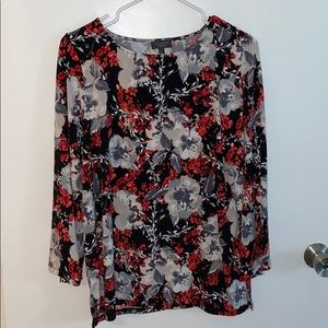The LIMITED Long Sleeve Floral Blouse